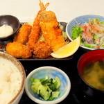 沖ちゃん - 海鮮揚げ定食