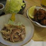 3727385 - ガツポン酢&鶏唐揚げ