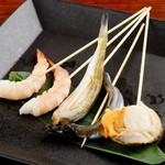 海鮮串焼き盛り合わせ