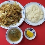 豚麺 - やきそば定食