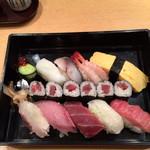 魚がし鮨 - ランチ 魚がしにぎり 1200円