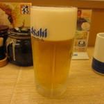 かつや - かつやの生ビールはスーパードライ