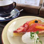 cafe soto - ★★★☆フルーツのタルト