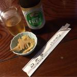 湊寿司 - お通しのタケノコ 訪問は4/24
