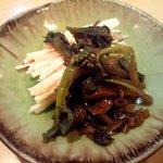 3729424 - 山葵菜と山芋のお通し.JPG
