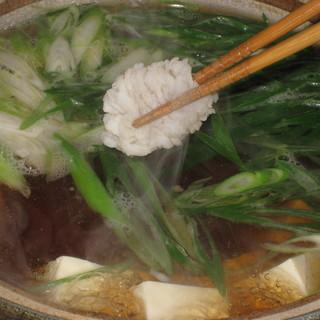 絶品スープで食す、鱧しゃぶ!