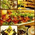 居酒屋dining肇 - 料理写真:真ん中は一番人気の和牛炙りおろしポン酢。