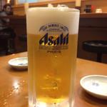 ぎょうざ屋 - 餃子にはビールが合うね(o'∀'o)
