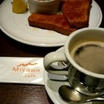 Cafe Miyama - モーニングセットA¥500-