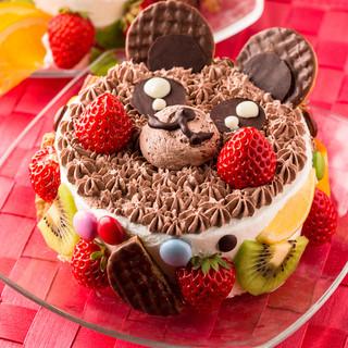 誕生日にや記念日に◎メッセージ付キャラクターケーキ多数♪