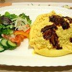 373410 - ふわふわオムライス野菜サラダ添え