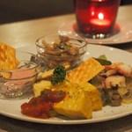 オイスター&バル インオープン - 本日のおまかせ前菜5種盛り