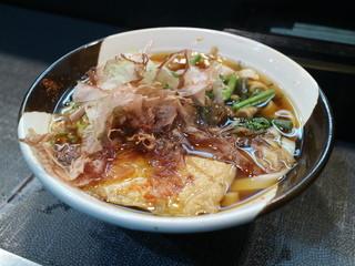 住よし JR名古屋駅・新幹線上りホーム店 - 山菜きしめん