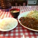 こふじ - とんかつ単品760円と、ご飯はレディースサイズ120円、味噌汁は、とんかつに付いています(2015.4.25)
