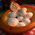 こふじ - ゆで卵は、一人に一個サービスです(2015.4.25)