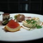 オステリア パーチェ - ティラミス、ブラットオレンジのムース、チョコレートムース
