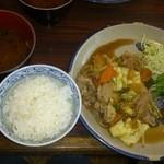 ミハル喫茶 - 生姜焼きのランチ