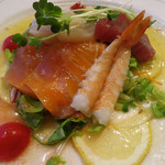 ビストロ ポップコーン - 選べる前菜(魚介類のサラダ仕立て)