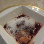 ビストロ ポップコーン - 温前菜(フォアグラムースのブリュレにフォアグラのソテー)