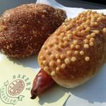 ベーカリー サンシロウ - ぶぶフランキーと三ちゃんカレーパン