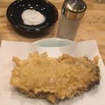 天ぷら てんかつ - 牡蠣の天ぷら。これが食べたくて来てしまうの。