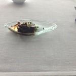 37317938 - ★6.5お食事前のお楽しみ 料理長からのプレゼント                       牛スジのマリネ