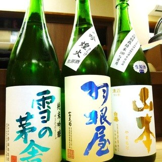 旬の日本酒取り揃えています。