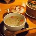 雨ことば カフェ - 蓮根の生姜スープ