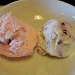 レストラン古洞 - ストロベリーとブルーベリーのアイス