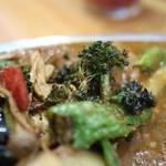 プーさん - 料理写真:緑野菜は揚げてある