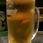活 大江戸 - 生ビール(500円)