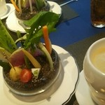 ル・モノポール - 季節の野菜の菜園 ズワイガニのクリームソースを添えて