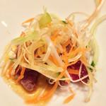 37327160 - コース料理の前菜(たたき)♩