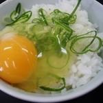 中華そば 上々 - 卵かけごはん