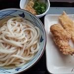 丸亀製麺 - 冷かけ・かしわ天・いか天