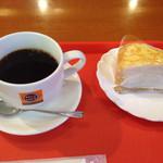 メルカフェ - ミルクレープとブレンドのセット@550円