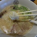 麺屋台 我馬 - 極細ストレート麺