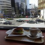 ドトールコーヒーショップ - 窓から汐留方面を望む