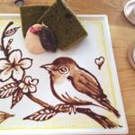 37335506 - 食べるのが勿体無いくらいチョコアートが素晴らしい‼︎