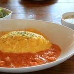 カフェ イタイラウインズ - トマトクリームオムライス ¥800  (+¥100 スープセット)