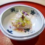 日本料理 櫻川 - 向付(鯛の昆布じめ)