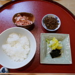 日本料理 櫻川 - 食事(桜海老、じゃご)
