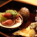 日本料理 徳 - 八寸 すべて冷製でした