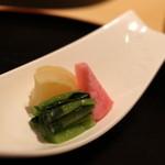 日本料理 徳 - 香の物