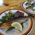 ワンゲルハウス - 料理写真:鱒と鹿のスモーク