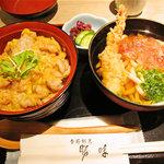 勝味 - ミニ親子丼とミニ讃岐うどん