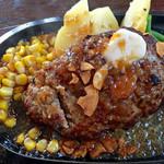 ベリーベリーファーム上田 レストラン - オリジナルハンバーグ(和風ガーリックソースで)