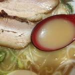 ラーメン いっぱい - いっぱいラーメン(650円)スープ