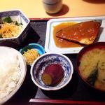 37342949 - A定食(鯖の味噌煮定食)@680