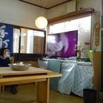 そば処 勉強屋 - 蕎麦打ち開始まずはテレビを見ての勉強